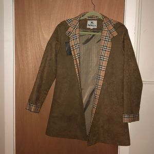 Beautiful Long soft Suede Burberry New Coat